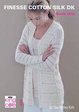 King Cole Finesse coton soie DK Double Knitting Book 1 Womens Fashion Patterns