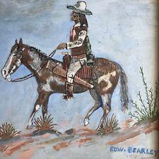 "EDWARD BEARLEY ORIGINAL PAINTING ON PANEL BOARD 1972 FRAMED 9"" X 8.5"""