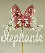 Personalised 3D Butterfly Cake Topper