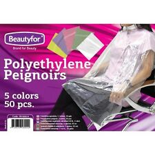 Pack of 50 Disposable Color Polyethylene Peignoir Covers for Hairdressing salons