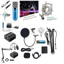 Studio Recording Microphone Set Audio Condenser Kit Vocal Stand USB 48V Phantom