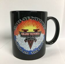 Grand Victoria by Hyatt vintage Old BLACK COFFEE MUG Casino and Resort Indiana