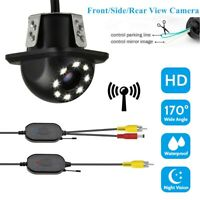2.4G Wireless Car Reverse Rear View 8 LED Night Vision Parking Cam Backup Camera