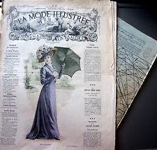 PATRON FRENCH PATTERN LA MODE ILLUSTREE n° 26//1908 Voir modèles à réaliser