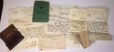 Antique Station / Post Master Railroad Transportation Documents 1879 - 1907