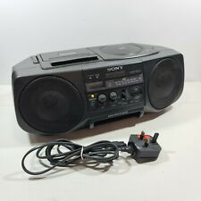More details for sony cfd-v20 portable cd cassette & fm am radio player boombox