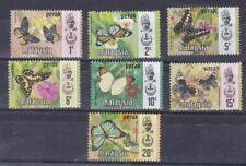 Malaysia Perak 1971 serie corrente Farfalle 118-24 MHN