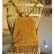 Leather Fringe Backpack Shoulder Bag Boho Hobo Tassel Shoulder Hippie Handbag