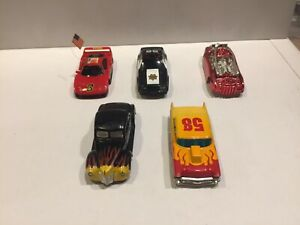 5 car BODY lot TYCO slot cars FERRARI 1940 Ford Coupe POLICE MUSTANG 1957 Chevy