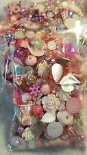 40g pink/purple embellishment mix. see description