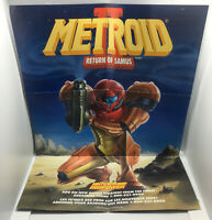 Authentic Metroid II 2 Nintendo Power Poster - Official - Good Cond. - Game Boy