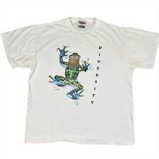 Vintage 1994 Project Earth Diversity Frog Single Stitch T-Shirt Men's Size XL