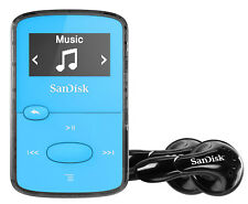 SanDisk Sansa Clip Jam 8GB MP3 Player with FM Radio holds 2000 Songs - Blue