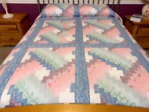King  size  Basket Weave patchwork quilt top