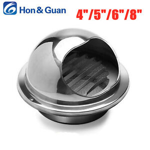 Hon&Guan 4-8in Stainless Steel Air Vent Ventilation Vent Outlet With Insect Net