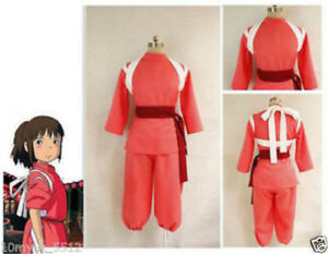 Custom Made Miyazaki Hayao Spirited Away Chihiro Ogino Sen Cosplay Costume A6