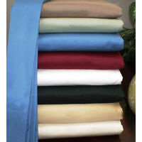 Twin XL Size 3 PC Fitted Sheet Set 1000TC Soft Egyptian Cotton All Solid Colors