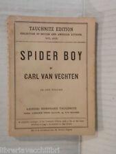 SPIDER BOY A scenario moving picture Carl Van Vechten Leipzig Bernhard Tauchnitz