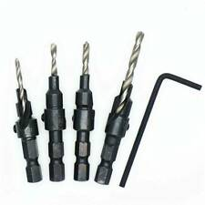 5PCS X HSS Countersink Drill Bit Set Screw Woodworking Tool Change Quick D1F5