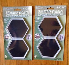 "8 FURNITURE SLIDER PADS MOVERS FLOOR PROTECTOR 4"" FOR CARPET TILE WOOD MAGIC"