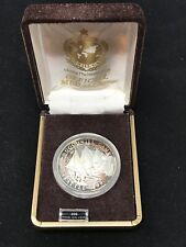 999 Fine Silver 1990 Games The Emerald City Seattle Medallion Coin Sculling Sail