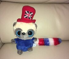 UFFICIALE Aurora World Yoohoo & Friends Lemure Britannica in Top Hat Beanie Soft Toy