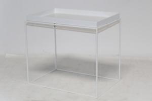 Hay Tray Table Beistelltisch Wohnzimmertisch Nachttisch Tabletttisch Stahl weiß