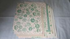 "SALE!! 8.5"" x 11"" PAPER - GREEN/TAN PRINTS #2 - LOT OF 9 SHEETS - NEW!!"