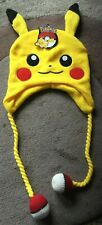 POKEMON PIKACHU LAPLANDER HAT WITH EARS & POKEBALL TASSLES – NEW WITH TAGS