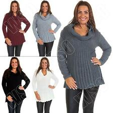 No Pattern Cowl Neck Regular Jumpers & Cardigans for Women