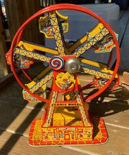 Vtg J. Chein & Co. Wind Up Tin Litho Ferris Wheel #172 Hercules Toy