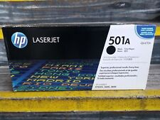 HP 501A Q6470A Black Print Cartridge.NEW SEALED!!