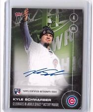 Kyle Schwarber 2016 Topps Now Cubs World Series Parade Auto Autograph /199
