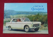 PEUGEOT 404 BERLINE : Brochure 1960    !