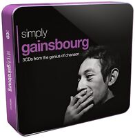 SERGE GAINSBOURG - SIMPLY GAINSBOURG (3CD TIN) 3 CD NEW+