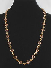 Carolee Goldtone MIMOSA Pale Pink Set Crystal Long Illusion Necklace N7781-5016