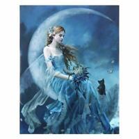 Nene Thomas Fairy Faery Open Edition Print 8x10 Earth Moon Elemental Gold Wings