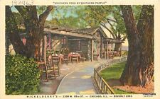 1940s Chicago Illinois Mickleberry Plantation Home Restaurant Teich 3889