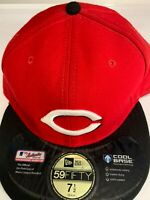 Cincinnati Reds MLB New Era 59fifty fitted Hat Size 7 1/2 Pre Owned