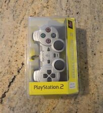New Silver Official Sony Playstation 2 Dual Shock 2 Analog Controller SCPH-10010