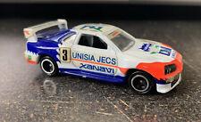 Tomy Tomica #40 - Nissan Skyline GT-R R34 - Unisia Jecs Xanavia - Red/White/Blue