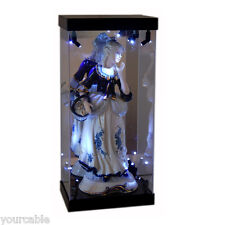 Acrylic Display Case Light Box for Porcelain Lady Statue Ceramic Woman Figurine