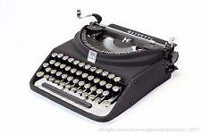 BLACK OLIVETTI ICO - rare typewriter - portable typewriter -qwerty