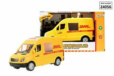 KIDS CHILDRENS OFFICIAL DHL SUPER COURIER BUS WITH LIGHTS AND SOUNDS TOY CAR VAN