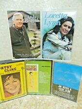5 Cassettes  Patsy Cline / Jim Reeves / Loretta Lynn / Andy Griffith