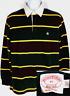 New Brooks Brothers Men Polo Shirt Size Medium M Multi Color Stripe Long Sleeve