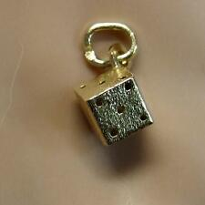 18 ct GOLD second hand dice pendant or charm