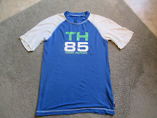 VINTAGE Tommy Hilfiger Dri Fit Shirt Size Adult Medium Spell Out Sport 90s Blue