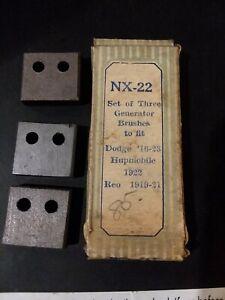 NORTH EAST GENERATOR BRUSH SET 1916 1917 1918 1920 21 22 23 DODGE REO HUPMOBILE