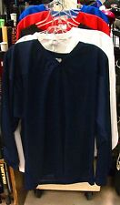 New Powertek ice hockey practice jersey long sleeve XXL large navy senior sr